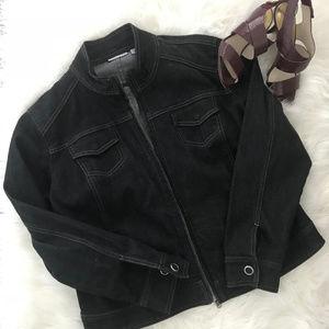 Chico's Platinum Denim Jacket - Like New